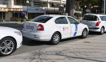 Car rental at Mallorca Airport, Spain